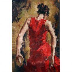 Tablou Canvas Flamenco 1053 60 x 90 cm Rama lemn Multicolor Tablouri