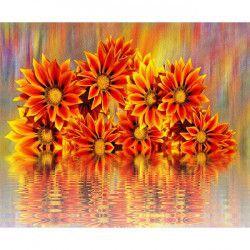 Tablou Canvas Flori 262 80 x 60 cm Rama lemn Multicolor Tablouri
