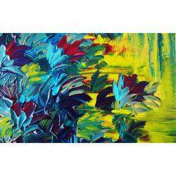 Tablou Canvas Flori si culori 90 x 60 cm Rama lemn Multicolor Tablouri