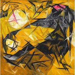 Tablou Canvas Galben abstract 70 x 70 cm Rama lemn Multicolor Tablouri