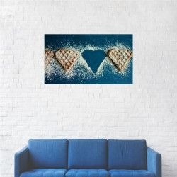 Tablou Canvas Gofra in forma de inimioara 40 x 70 cm Tablouri
