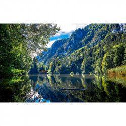 Tablou Canvas Lac de munte 566 80 x 50 cm Rama lemn Multicolor Tablouri