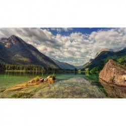 Tablou Canvas Lac de munte 90 x 50 cm Rama lemn Multicolor Tablouri