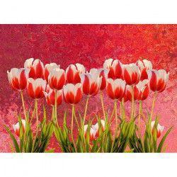 Tablou Canvas Lalele 274 80 x 50 cm Rama lemn Multicolor Tablouri