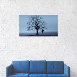 Tablou Canvas Leaganul din copac Iarna 20 x 35 cm Tablouri