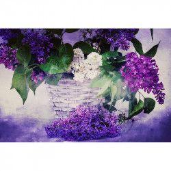 Tablou Canvas Liliac 90 x 60 cm Rama lemn Multicolor Tablouri