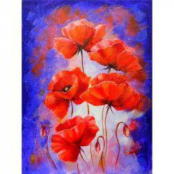 Tablou Canvas Maci rosii pictati 60 x 80 cm Multicolor Tablouri
