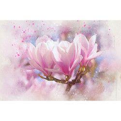 Tablou Canvas Magnolia Roz 90 x 60 cm Rama lemn Multicolor