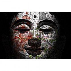 Tablou Canvas Masca 2 90 x 60 cm Rama lemn Multicolor Tablouri