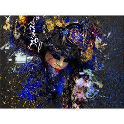 Tablou Canvas Masca de carnaval 60 x 45 cm Rama lemn Multicolor Tablouri