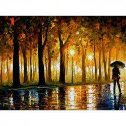 Tablou Canvas Melancolie 80 x 50 cm Rama lemn Multicolor Tablouri