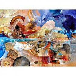 Tablou Canvas Muzica 447 80 x 60 cm Rama lemn Multicolor Tablouri