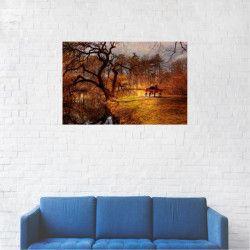Tablou Canvas Natura Toamna Romantic Peisaj 20 x 30 cm Tablouri