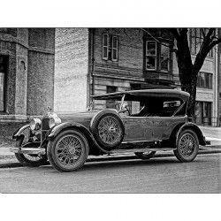 Tablou Canvas Old car Alb/Negru 60 x 45 cm Rama lemn Tablouri