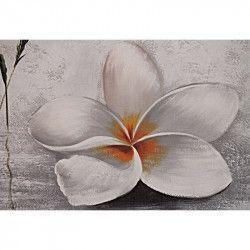 Tablou Canvas Orhidee alba 90 x 60 cm Rama lemn Multicolor Tablouri