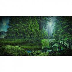 Tablou Canvas Padurea verde 90 x 50 cm Rama lemn Multicolor Tablouri