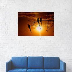Tablou Canvas Pasari in copac la apus de soare 20 x 30 cm Tablouri