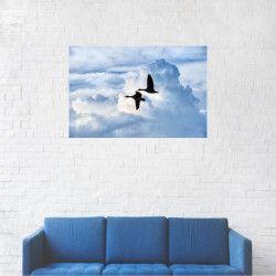 Tablou Canvas Pasari printre nori 20 x 30 cm Tablouri