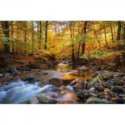 Tablou Canvas Peisaj de toamna 80 x 50 cm Rama lemn Multicolor
