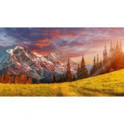 Tablou Canvas Peisaj de toamna Apus de soare 90 x 50 cm Multicolor