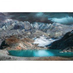 Tablou Canvas Peisaj montan Lac de munte 90 x 60 cm Multicolor