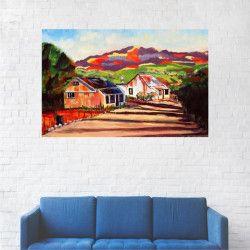 Tablou Canvas Peisaj Munte Case 20 x 30 cm Tablouri