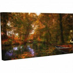 Tablou Canvas Peisaj Natura Barca Toamna 20 x 30 cm Tablouri