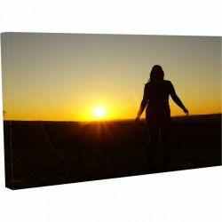 Tablou Canvas Peisaj Rasarit de soare 40 x 70 cm Tablouri