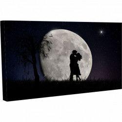 Tablou Canvas Peisaj Romantic Luna Seara 20 x 30 cm Tablouri