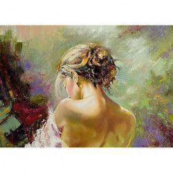Tablou Canvas Pictura Femeie Culori 70 x 50 cm Multicolor Tablouri