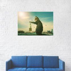 Tablou Canvas Pisica giganta Statuia libertatii 40 x 60 cm Tablouri