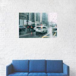 Tablou Canvas Ploaie geamuri auto trafic 60 x 90 cm Tablouri