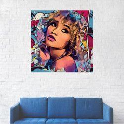 Tablou Canvas Portret Multi Sticker 20 x 20 cm Tablouri