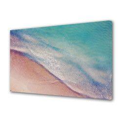 Tablou Canvas Premium Peisaj Multicolor Peisaj abstract cu mare si nisip Decoratiuni Moderne pentru Casa 80 x 160 cm Tablouri