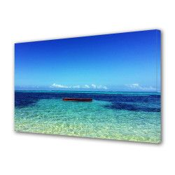 Tablou Canvas Premium Peisaj Multicolor Apa linistita si cer senin Decoratiuni Moderne pentru Casa 80 x 160 cm Tablouri