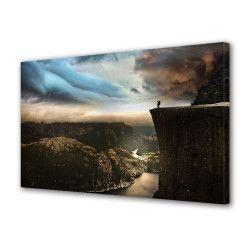 Tablou Canvas Premium Peisaj Multicolor Calatorie intre stanci Decoratiuni Moderne pentru Casa 80 x 160 cm Tablouri