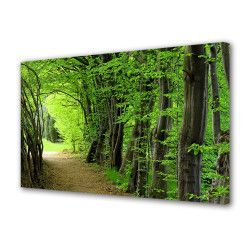 Tablou Canvas Premium Peisaj Multicolor Carare in padure printre copaci Decoratiuni Moderne pentru Casa 80 x 160 cm Tablouri