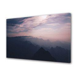 Tablou Canvas Premium Peisaj Multicolor Peisaj cu cer roz Decoratiuni Moderne pentru Casa 80 x 160 cm Tablouri