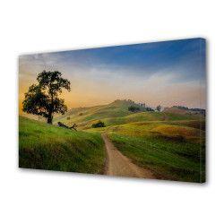 Tablou Canvas Premium Peisaj Multicolor Drum spre apus Decoratiuni Moderne pentru Casa 80 x 160 cm Tablouri