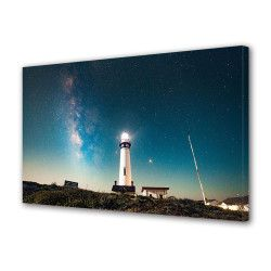 Tablou Canvas Premium Peisaj Multicolor Farul luminos Decoratiuni Moderne pentru Casa 80 x 160 cm Tablouri