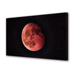 Tablou Canvas Premium Peisaj Multicolor Luna rosie Decoratiuni Moderne pentru Casa 80 x 160 cm Tablouri