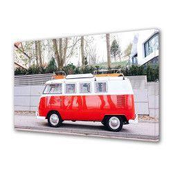 Tablou Canvas Premium Peisaj Multicolor Masina rosie Decoratiuni Moderne pentru Casa 80 x 160 cm Tablouri