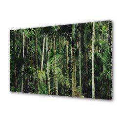 Tablou Canvas Premium Peisaj Multicolor Padure verde Decoratiuni Moderne pentru Casa 80 x 160 cm Tablouri