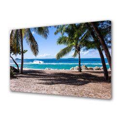 Tablou Canvas Premium Peisaj Multicolor Palmieri pe plaja Decoratiuni Moderne pentru Casa 80 x 160 cm Tablouri