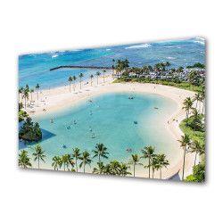 Tablou Canvas Premium Peisaj Multicolor Peisaj plaja exotica Decoratiuni Moderne pentru Casa 80 x 160 cm Tablouri