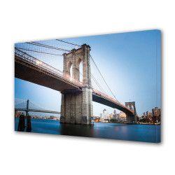 Tablou Canvas Premium Peisaj Multicolor Pod peste apa Decoratiuni Moderne pentru Casa 80 x 160 cm Tablouri