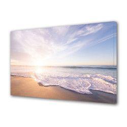 Tablou Canvas Premium Peisaj Multicolor Peisaj simplu cu marea si plaja Decoratiuni Moderne pentru Casa 80 x 160 cm Tablouri
