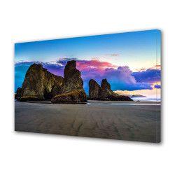 Tablou Canvas Premium Peisaj Multicolor Stanci pe fundal colorat Decoratiuni Moderne pentru Casa 80 x 160 cm Tablouri