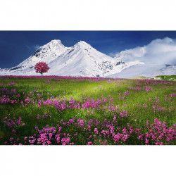 Tablou Canvas Primavara roz 80 x 50 cm Rama lemn Multicolor Tablouri