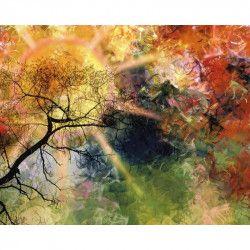 Tablou Canvas Raze de soare 80 x 60 cm Rama lemn Multicolor Tablouri